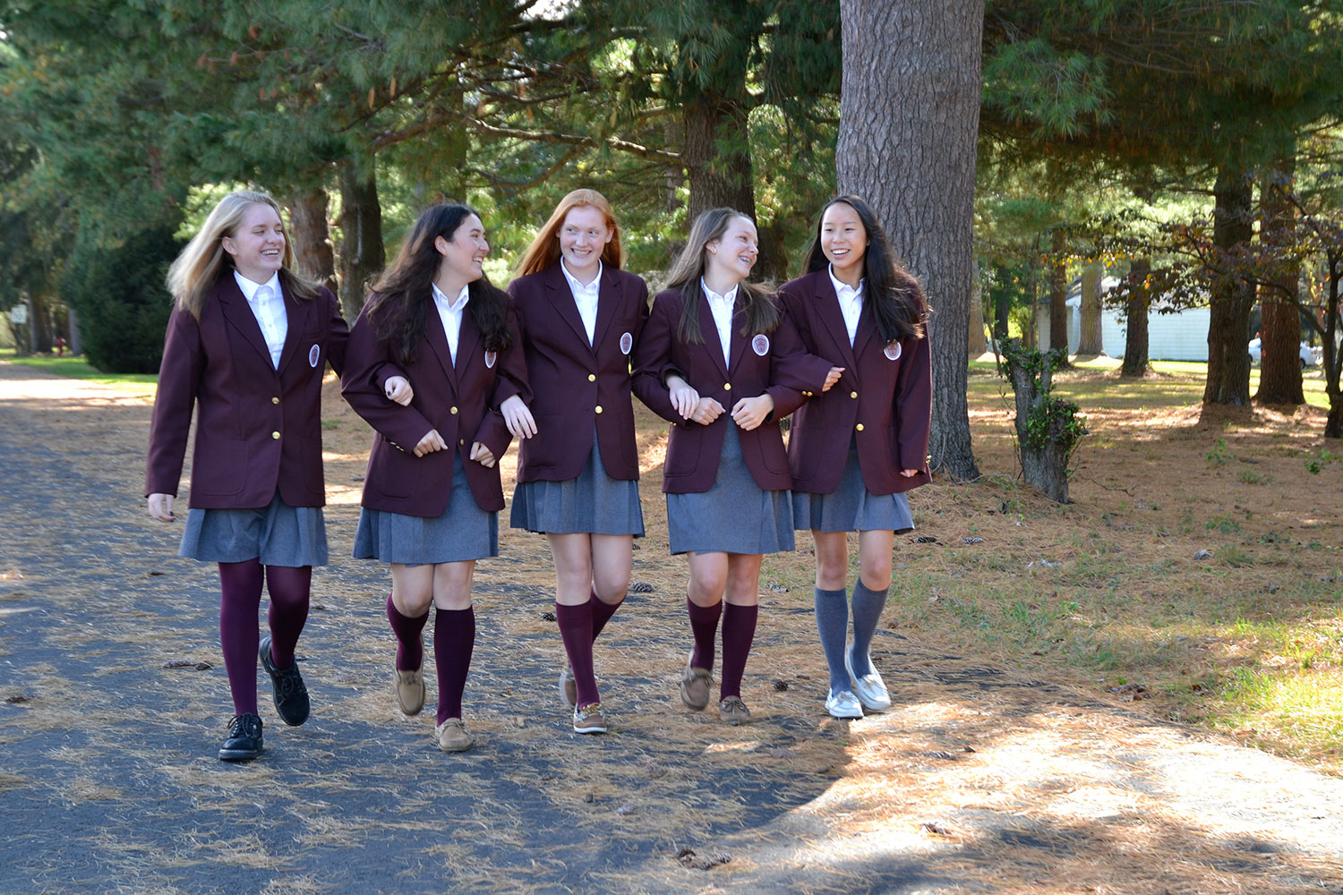 Villa girls walking
