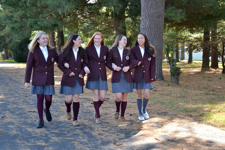 Villa girls walking